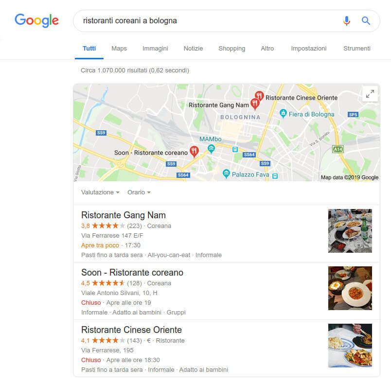 Local search ristoranti a Bologna