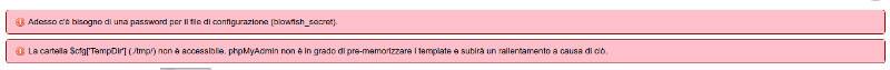 errori in phpmyadmin con php 7