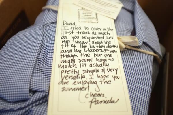 lettera di ringraziamento nella spedizione