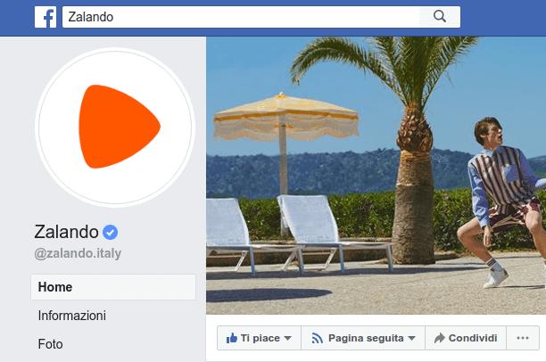 Esempio di pagina facebook verificata