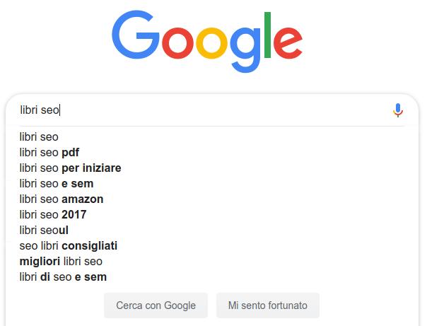 esempio di google instant